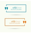 Quote sign icon vector image vector image