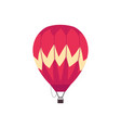 red hot air balloon sketch icon vector image