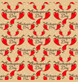 seamless pattern thanksgiving with pepper vector image vector image