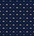 seamless pattern with crown vector image