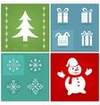 set christmas symbols vector image vector image