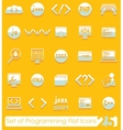 Set of programming icons vector image