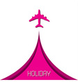 Simple holiday background with airplane vector image vector image
