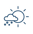 simple icon with hail falling from cloud in sunny vector image