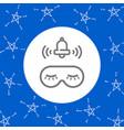 sleeping eye mask alarm clock bell sticker vector image
