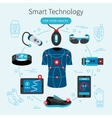 Smart Technology Line Poster vector image