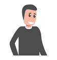 smiling man icon cartoon style vector image