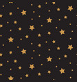 stars seamless pattern background black vector image