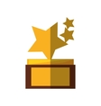 stars trophy awards shadow vector image