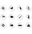 Stickers with seaside icons vector image vector image