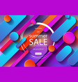 summer sale poster vector image vector image