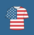 t-shirt with united states flag american vector image vector image