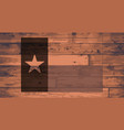 texas state flag brand vector image vector image