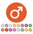 The male icon Man symbol Flat vector image vector image