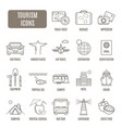 tourism icons set of pictogram vector image