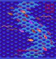 traditional japanese motif fish scales carp koi vector image
