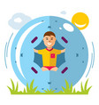 zorbing concept flat style colorful vector image vector image