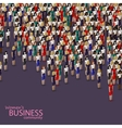 3d isometric of women business community a crowd vector image