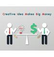 creative idea business concept vector image