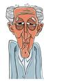 Old man cartoon style vector image
