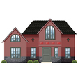 A red concrete house vector image