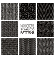 Abstract Monochrome Seamless Background Patterns vector image vector image