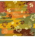 autumn pattern vector image vector image