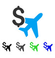 aviation business flat icon vector image vector image