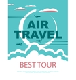 banner for air travel vector image vector image