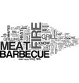 barbecue tips for better taste text word cloud vector image vector image