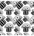 beautiful seamless pattern with monochrome vector image