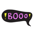 booo cool teenager word bubble black vector image vector image