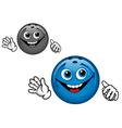 bowling ball cartoon vector image vector image