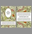brochure with beige floral doodle pattern vector image vector image