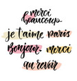 calligraphic phrase in french inspirational vector image vector image
