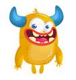 cartoon yellow monste vector image vector image