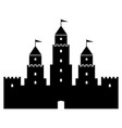 castle icon on white vector image vector image