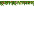 christmas garland transparent white background vector image vector image