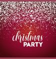 christmas party snow red background vector image