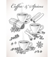 Coffee and spice vector image