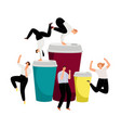 coffee energy active bussinesspeople vector image vector image