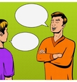 comic strip with debate two persons vector image