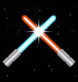 crossed swords opposition forces vector image