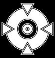crosshair target mark shape for pinpoint bullseye vector image