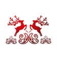 deer card decoration vector image