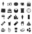 dining room icons set simple style vector image vector image