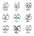 emotions white vector image