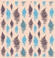 fern leaf leaf seamless pattern background vector image