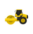 flat icon of yellow road roller vector image vector image