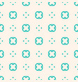 floral ornament turquoise seamless pattern vector image vector image